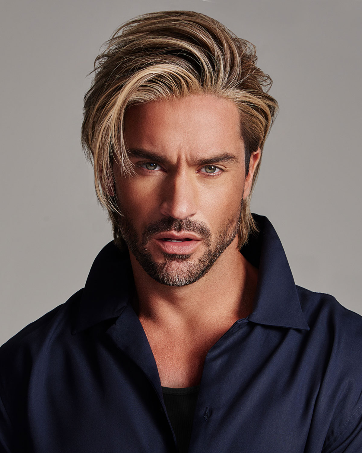 Daring Average Large Men s Lace Front   Monofilament Part Synthetic Wig by  HIM. Home · Wigs · Men s 14a88642f