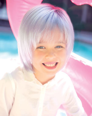 Kensley (Exclusive) Kids Lace Front & Monofilament Part Synthetic Wig by Amore