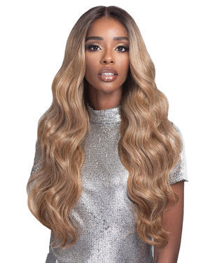 Carmela Lace Front Human Hair Blend Wig by Bobbi Boss