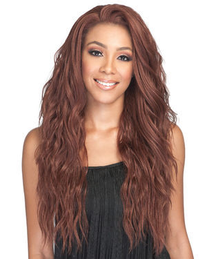 Ambra Average/Large Lace Front Human Hair Blend Wig by Bobbi Boss