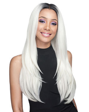 Aniah Average/Large Lace Front Human Hair Blend Wig by Bobbi Boss