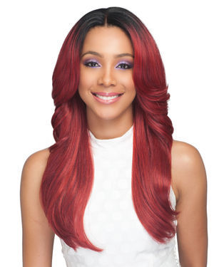 Taylah Average/Large Lace Front Human Hair Blend Wig by Bobbi Boss