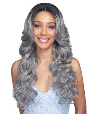 Kiliah Average/Large Lace Front Human Hair Blend Wig by Bobbi Boss