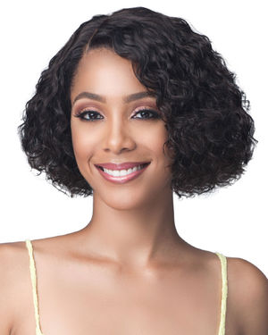 Water Curl 10 Lace Front Human Hair Wig by Bobbi Boss