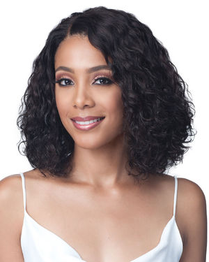 Water Curl 12 Lace Front Human Hair Wig by Bobbi Boss
