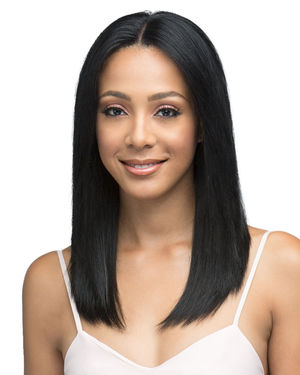Natural Straight 18 Lace Front Remy Human Hair Wig by Bobbi Boss