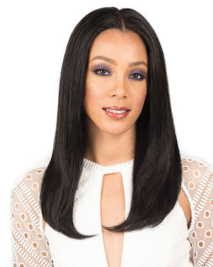 Natural Straight 20 Lace Front Remy Human Hair Wig by Bobbi Boss
