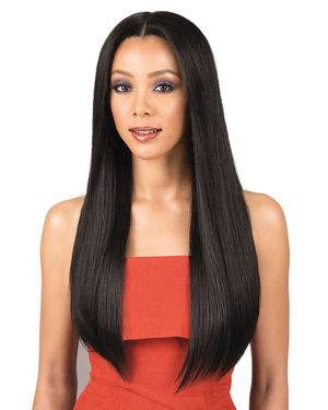 Natural Straight 26 Lace Front Remy Human Hair Wig by Bobbi Boss