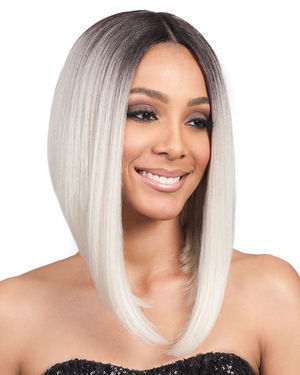 Lyna Angled Bob Lace Front Synthetic Wig by Bobbi Boss
