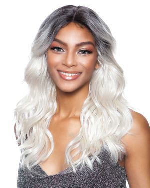 BS149 Lace Part Human Hair Blend Wig by Brown Sugar