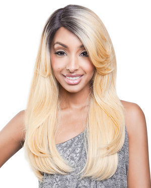 BS201 Lace Front Human Hair Blend Wig by Brown Sugar