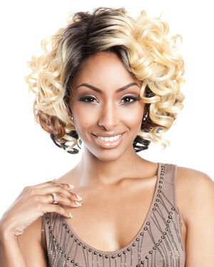 BS208 Lace Front Human Hair Blend Wig by Brown Sugar