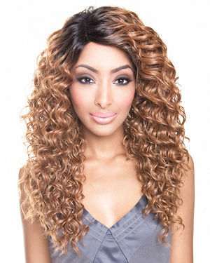 BS209 Lace Front Human Hair Blend Wig by Brown Sugar