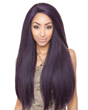 BS213 Lace Front Human Hair Blend Wig by Brown Sugar