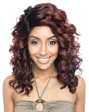 BS219 Lace Front Human Hair Blend Wig by Brown Sugar
