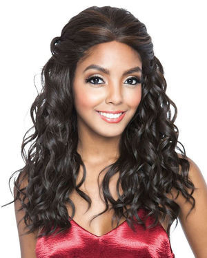 BS407 Lace Front Human Hair Blend Wig by Brown Sugar