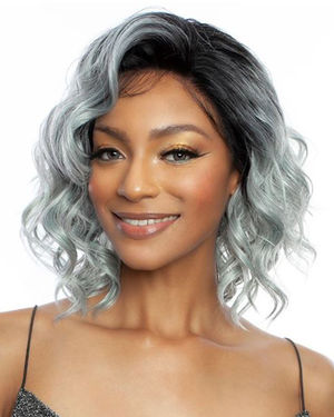 Everglades Lace Front Human Hair Blend Wig by Brown Sugar