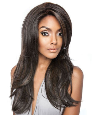 BSF01 Lace Front Human Hair Blend Wig by Brown Sugar