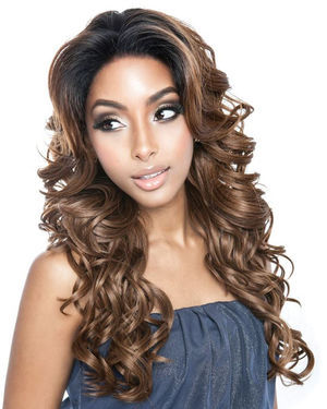 BSF04 Lace Front Human Hair Blend Wig by Brown Sugar