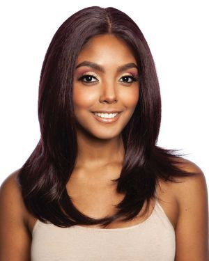 Pincherry Lace Front Human Hair Blend Wig by Brown Sugar