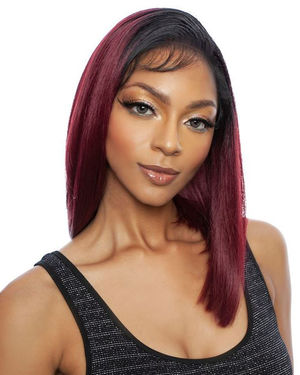 Delani Lace Front Human Hair Blend Wig by Brown Sugar