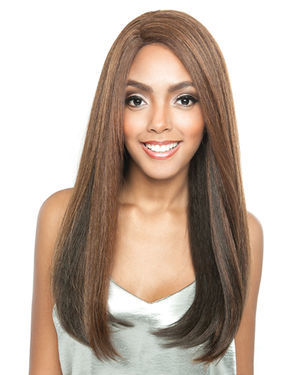 Natural Straight 20 Lace Front Human Hair Blend Wig by Brown Sugar