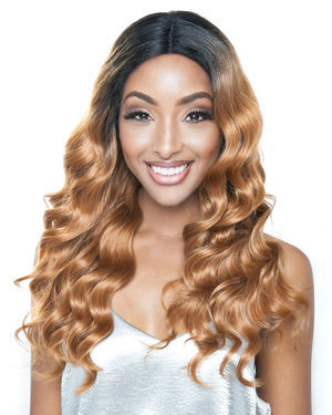 Natural Ripple Deep 22 Lace Front Human Hair Blend Wig by Brown Sugar