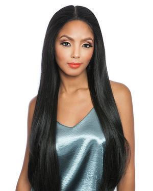Straight 28 Lace Front Human Hair Blend Wig by Brown Sugar
