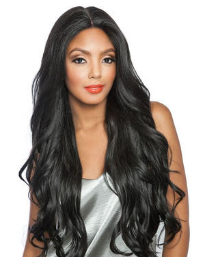 Loose Wave 28 Lace Front Human Hair Blend Wig by Brown Sugar