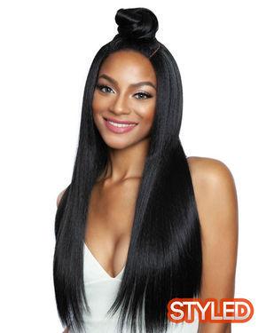 Straight 26 Lace Front Human Hair Blend Wig by Brown Sugar