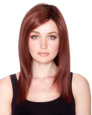 Straight Press 18 Lace Front & Monofilament Synthetic Wig by Belle Tress