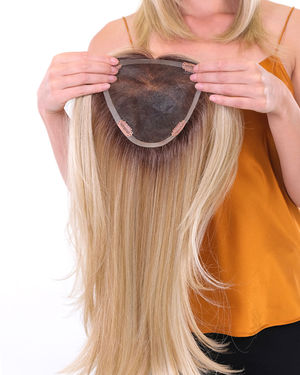 Premium 100% Handmade Topper 18 Straight Topper Synthetic Wiglets