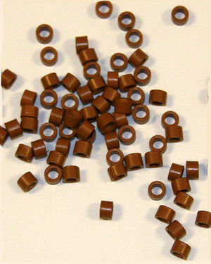 Fusion Hair Extension Ring L (Brown / 360 Pieces)