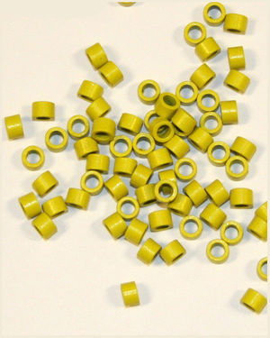 Fusion Hair Extension Ring L (Yellow / 150 pieces)