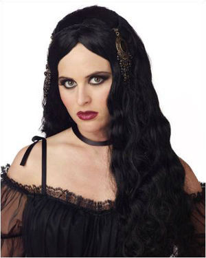 Gothic Princess Black Halloween Wig by California Costumes