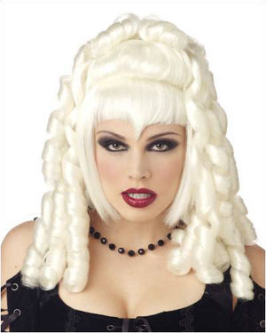 Goth Vampira White Halloween Wig by California Costumes
