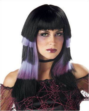 Club Chaos Black/Purple Costume Wig by California Costumes