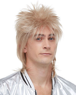 British Rockstar Costume Wig by Characters