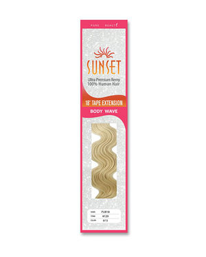 Sunset Body Wave Tape Extension 18 inch Remy Human Hair by Elegante