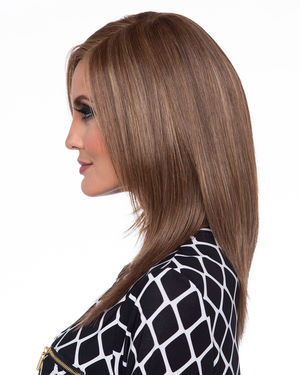 Ava (Exclusive) Lace Front & Monofilament Part Human Hair Blend Wig by Envy
