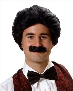 Man w/Moustache Costume Wig by Franco