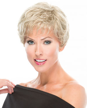 Textured Short Cut Monofilament Synthetic Wig by TressAllure
