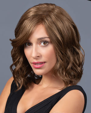 Mid Length Beach Waves Lace Front & Monofilament Synthetic Wig by TressAllure