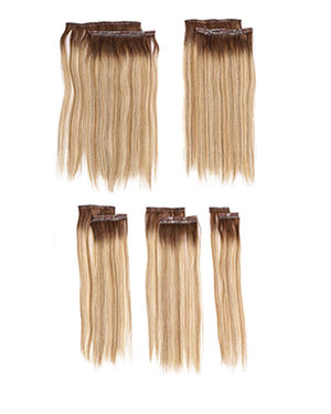 16 inch 10pc Fineline Human Hair Extension Kit by Hairdo