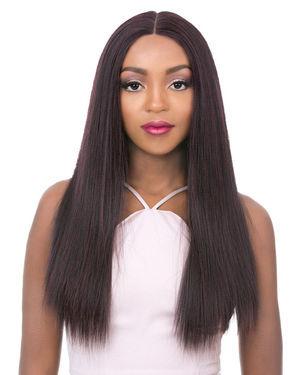 Vixen X Yaki Straight Lace Front Human Hair Blend Wig by Its a Wig
