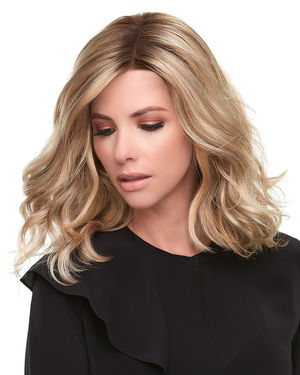 Top Smart Wavy 12 inch (Exclusive) Lace Front & Monofilament Synthetic Hair Toppers by Jon Renau