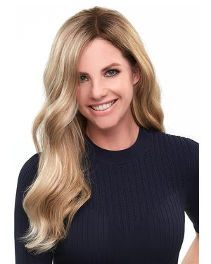 Top Smart Wavy 18 inch (Exclusive) Lace Front & Monofilament Synthetic Hair Toppers by Jon Renau