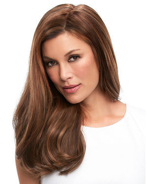 Top Full 18 inch (Exclusive) Monofilament Remy Human Hair Toppers by Jon Renau