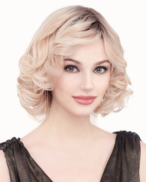 PLF008HM Lace Front & Monofilament Human Hair Wig by Louis Ferre