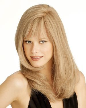 Amber Monofilament Human Hair Wig by Louis Ferre